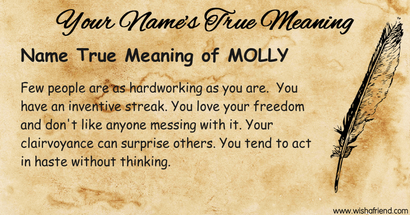 What Is The True Meaning Of Your Molly
